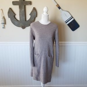 Gray/tan sweater dress
